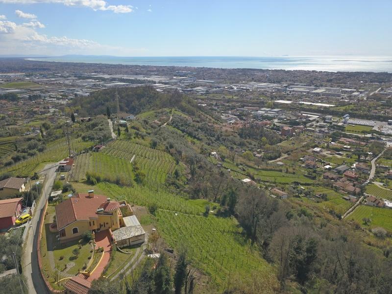 Villa mit Weinberg und Meerblick